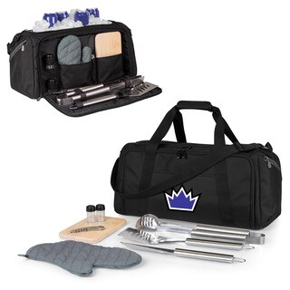 Picnic Time Black Sacramento Kings BBQ Kit Cooler