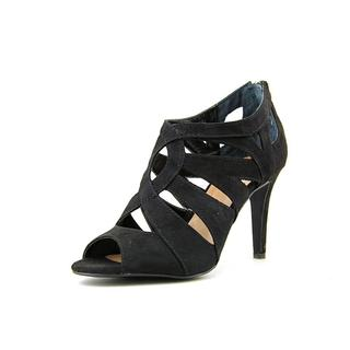 Style & Co Women's Ursella Black Faux Suede Strappy High Heel