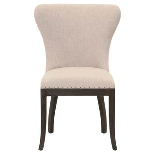 Gray Manor Kelsey Espresso Oak/Linen Dining Chairs (Set of 2)