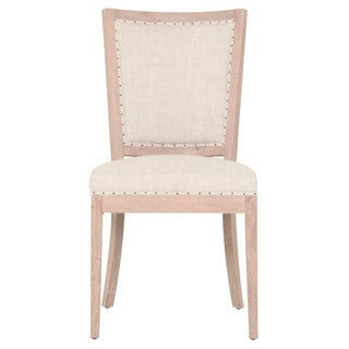 Leanne 6OS489UP.BIS-BT/SW Cream Linen and Oak Dining Chair (Set of 2)