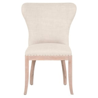 Kelsey Cream Linen and Oak 37-inch x 27-inch x 25-inch Dining Chair (Set of 2)