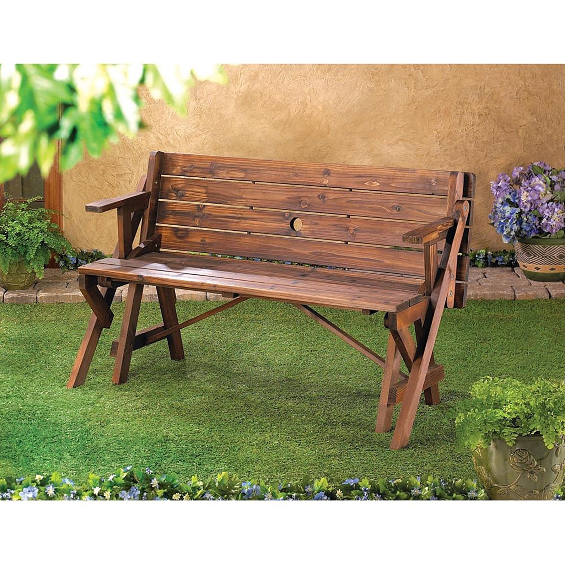Erie Brown Wooden Multifunctional Outdoor Table (Erie Woo...