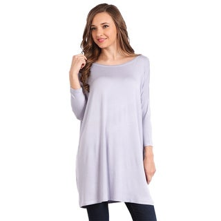 Jed Women's Rayon Long Sleeve Round Neck Soft Tunic