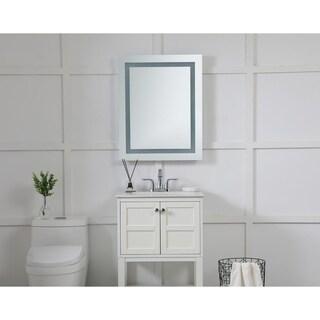 Elegant Lighting Rectangle LED Electric Mirror (24x30)