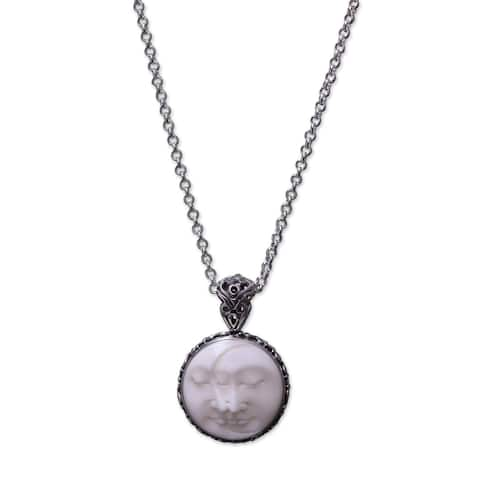 Handmade Moon Romancing Sterling Silver Bone Necklace (Indonesia)