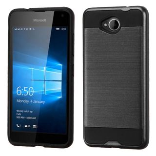 Insten Protective PC/ Silicone Dual Layer Hybrid Rubberized Matte Case Cover For Microsoft Lumia 650