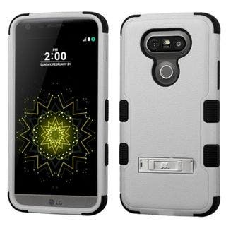 Insten Hard PC/ Silicone Dual Layer Hybrid Rubberized Matte Case Cover with Stand For LG G5 (Option: Orange)|https://ak1.ostkcdn.com/images/products/11954790/P18840904.jpg?impolicy=medium