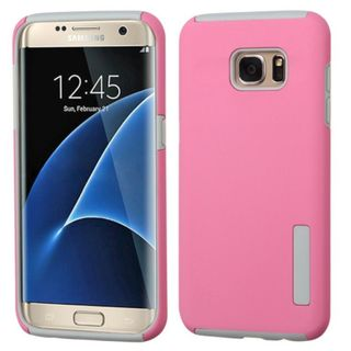 Insten Silicone / Hard PC Dual Layer Hybrid Rubberized Matte Case Cover For Samsung Galaxy S7 Edge