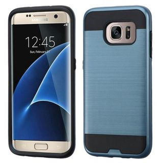 Insten Protective PC/ Silicone Dual Layer Hybrid Rubberized Matte Case Cover For Samsung Galaxy S7 Edge