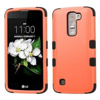 Insten Tuff Hard PC/ Silicone Dual Layer Hybrid Rubberized Matte Case Cover For LG K7 (Option: Orange/Black)