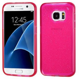 Insten Glittering TPU Rubber Candy Skin Glitter Case Cover For Samsung Galaxy S7