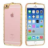 Insten Hard Snap-on Rubberized Matte Bumper Frame with Diamond For Apple iPhone 6/ 6s