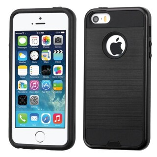 Insten Hard PC/ Silicone Dual Layer Hybrid Rubberized Matte Case Cover For Apple iPhone 5/ 5S/ SE (5 options available)