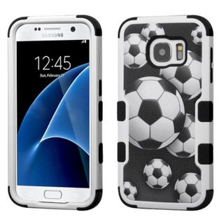 Insten Soccer Ball Collage Tuff Hard PC/ Silicone Dual Layer Hybrid Case Cover For Samsung Galaxy S7
