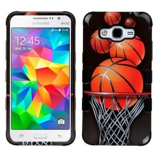Insten Basketball Hoop Tuff Hard PC/ Silicone Dual Layer Hybrid Case Cover For Samsung Galaxy Grand Prime