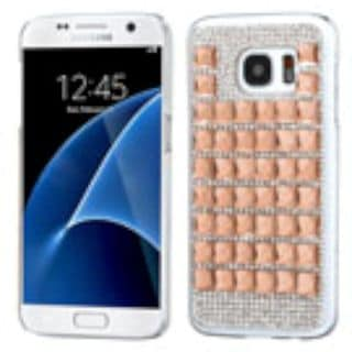 Insten Rose Gold Hard Snap-on Rhinestone Bling Case Cover For Samsung Galaxy S7