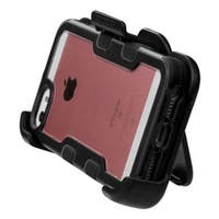 Insten Black Hard Snap-on Rubberized Matte Case Cover with Stand/ Holster For Apple iPhone 5/ 5S/ SE