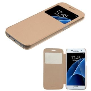 Insten Gold Leather Case Cover For Samsung Galaxy S7