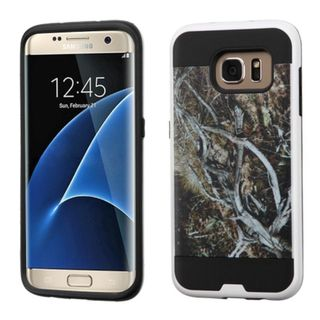Insten Yellow/ Black Vines Hard PC/ Silicone Dual Layer Hybrid Rubberized Matte Case Cover For Samsung Galaxy S7 Edge