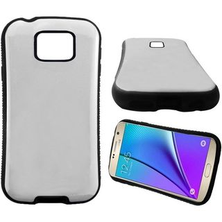 Insten White/ Black Hard PC/ Silicone Dual Layer Hybrid Rubberized Matte Case Cover For Samsung Galaxy Note 5