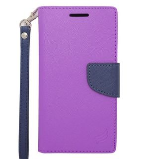 Insten Leather Case Cover Lanyard with Stand/ Wallet Flap Pouch/ Photo Display For HTC Desire 610/ 612