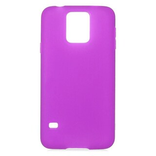 Insten TPU Rubber Candy Skin Case Cover For Samsung Galaxy S5 (Option: Purple)