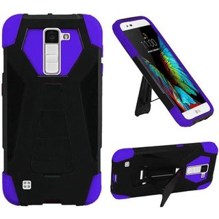 Insten Hard PC/ Silicone Dual Layer Hybrid Case Cover with Stand For LG K10