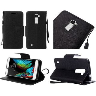 Insten Leather Case Cover Lanyard with Stand For LG K10