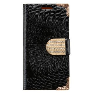Insten Leather Case Cover with Wallet Flap Pouch/ Diamond For Alcatel One Touch Fierce 2 7040T/ Pop Icon A564C