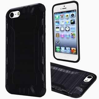 Insten Hard PC/ Silicone Dual Layer Hybrid Rubberized Matte Case Cover For Apple iPhone 5/ 5S/ SE