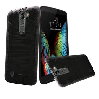 Insten Hard PC/ Silicone Dual Layer Hybrid Rubberized Matte Case Cover For LG K10