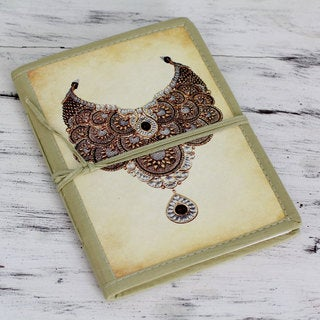 Handmade Paper 'Royal Gems' Journal (India)