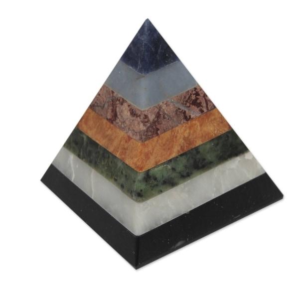 Handmade Positive Spirituality Gemstone Sculpture (Peru)