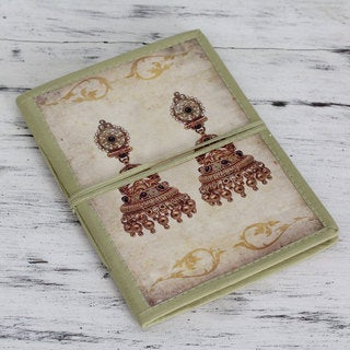 Handmade Paper 'Royal Wedding Jewels' Journal (India)