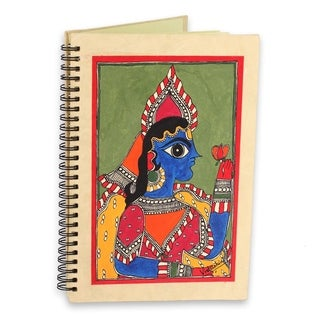 Handmade Paper 'The Maharajah' Madhubani Journal (India)