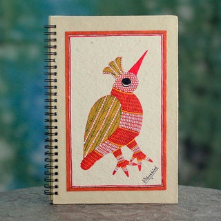 Handmade Paper 'Baby Bird' Journal (India)