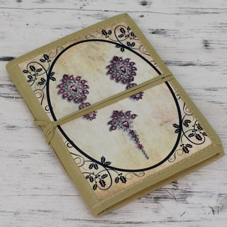 Handmade Paper 'Ruby Jewels' Journal (India)