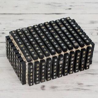 Handmade Upcycled Telephone Key 'Matrix Connection' Box (India)
