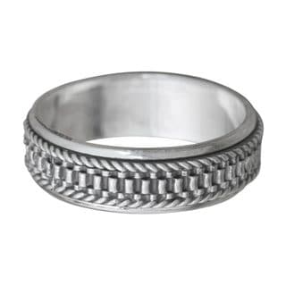 Handmade Men's Sterling Silver 'Odyssey' Ring (Indonesia)