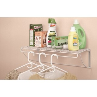 ClosetMaid White Stainless Steel Laundry Shelf