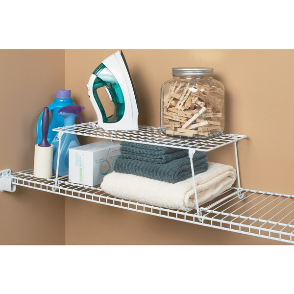 Captivating ClosetMaid Stack And Hang White Stainless Steel Shelf