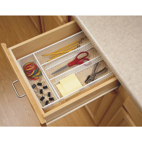 ClosetMaid White Stainless Steel Drawer Utensil Organizer