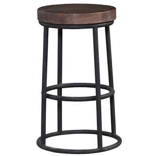 Bramble Co. Indigo Midnight Blue/ Cocoa Metal Counter Stool