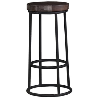 Bramble Co. Indigo Midnight Blue/ Cocoa Bar Stool