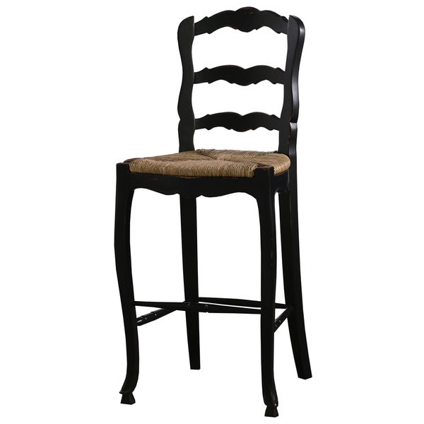 Bramble Co Provincial Black Distressed Mahogany Barstool  : Bramble Co Provincial Mahogany Barstool Black Distressed 68d8ad88 d727 4be7 8c41 bd2e0df29291600 from www.overstock.com size 600 x 600 jpeg 32kB