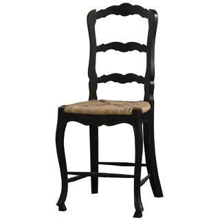 Bramble Co. Mahogany Black Distressed Provincial Counter Height Chair