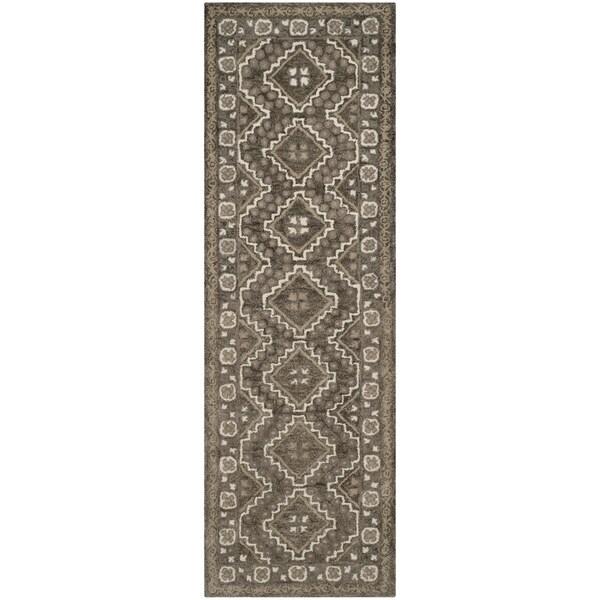 Safavieh Handmade Bella Brown/ Taupe Wool Rug (2' 3 x 7')