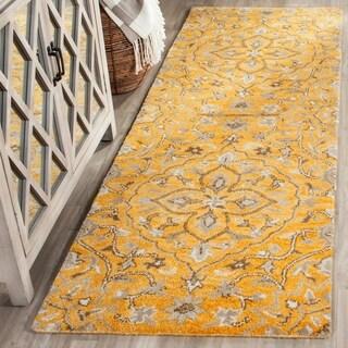 Safavieh Handmade Bella Gold/ Taupe Wool Rug (2' 3 x 7')