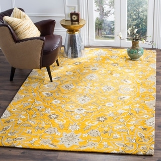 Safavieh Handmade Bella Rose/ Taupe Wool Rug (2' 3 x 7')