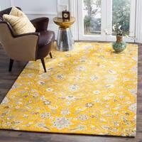 Safavieh Handmade Bella Rose/ Taupe Wool Rug - 2' 3 x 7'